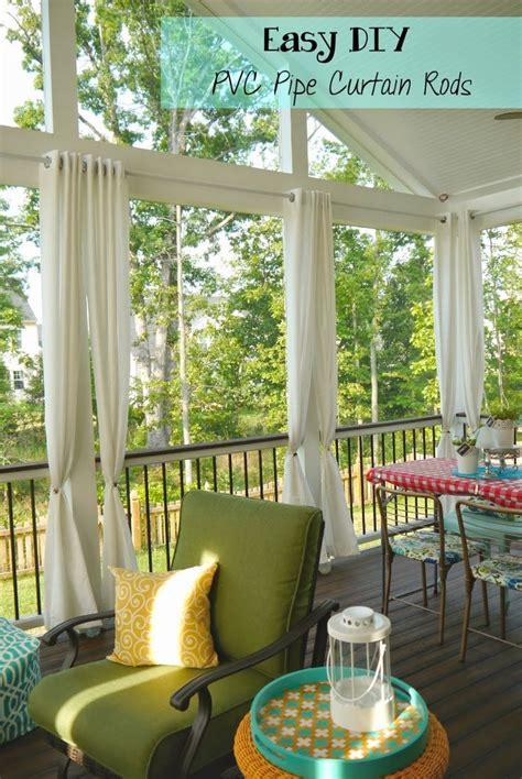 best 25 outdoor curtain rods ideas on outdoor