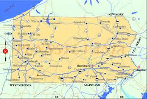 pennsylvania map listings united states