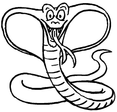 printable coloring page king cobra pics of king cobra coloring pages snake free