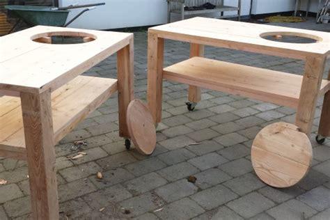 tafel in hout maken douglas hout bbq tafels