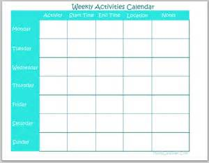 weekly activity calendar template weekly meal calendar printable page 2 search results