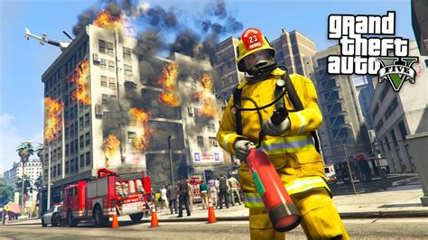 The Firefighter gta 5 mods play as a firefighter mod gta 5 firefighter