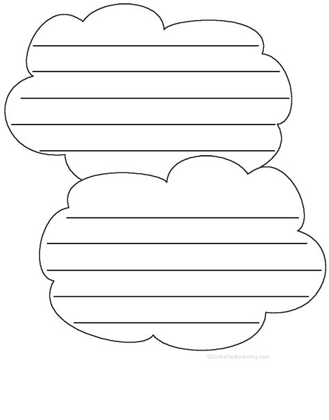 shape poem template printables