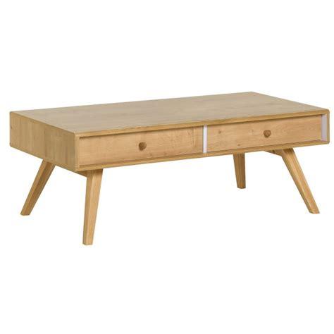 Table Basse Avec Tiroirs by Table Basse Design Scandinave Avec Tiroirs Naturels Nature
