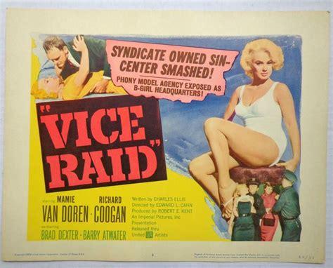 Grindhouse Lobby Card Template by Vice Raid Vtg Lobby Card 1959 Mamie Doren