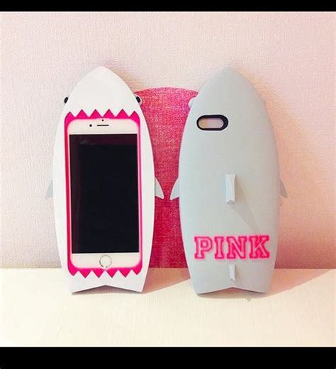 Air Iphone 5s 3d Hardcase s secret pink new 3d shark fish soft silicone