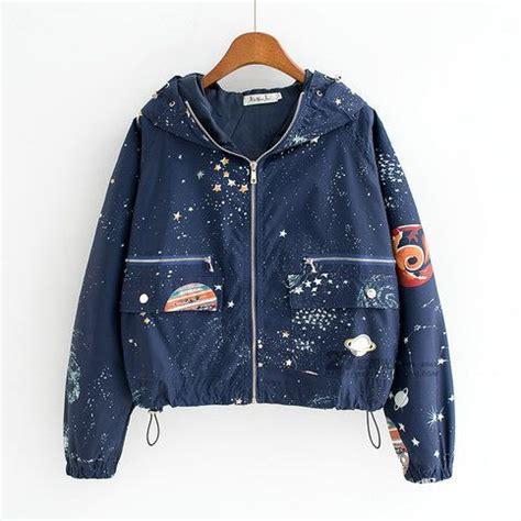 harajuku universe galaxy hoodie coat colour black navy