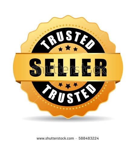 Bukti Trusted Seller 1 trusted top seller gold vector icon stock vector 566957905
