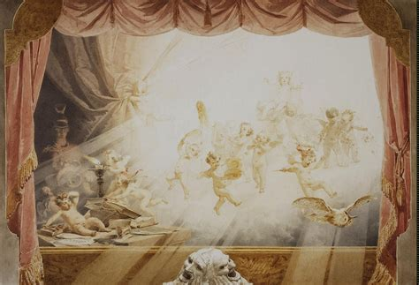 drapery painting design of a theatrical curtain painting zichy mihaly oil
