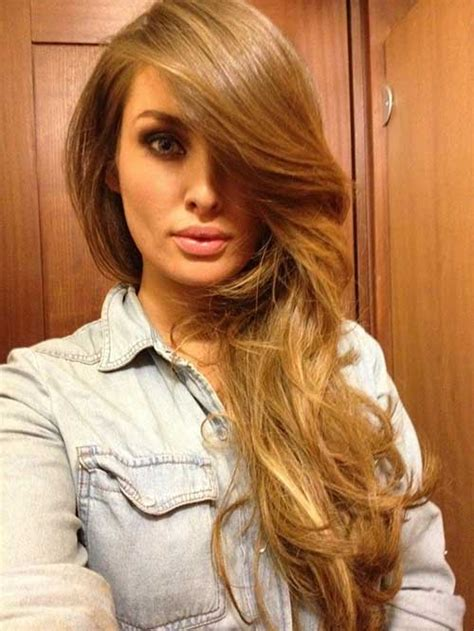 long hair wifh swwop bangs 25 side swept bangs with long hair long hairstyles 2016