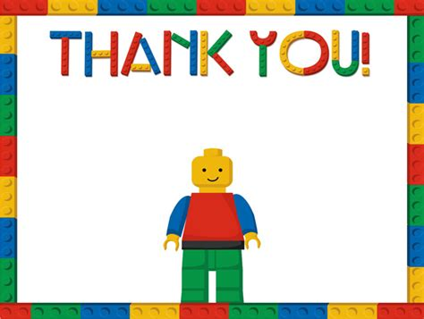 lego thank you note cards