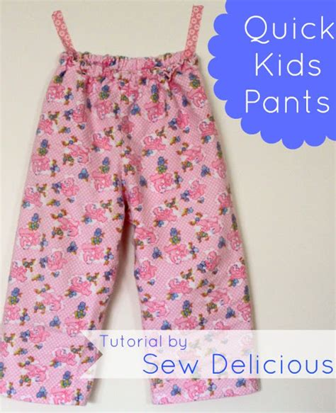 simple pattern for pants quick easy kids pants tutorial sew delicious