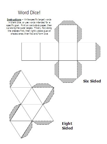 printable 10 sided dice template 6 sided dice template bing images
