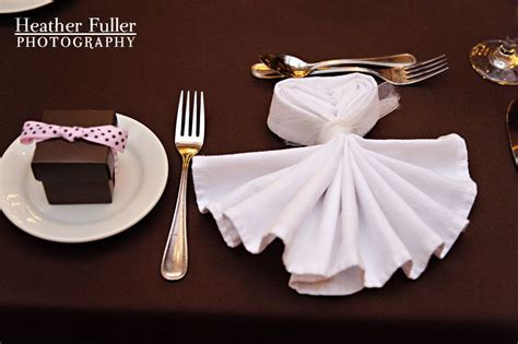 Wedding Napkin Folds by The Tuxedo Napkin Folding Steve