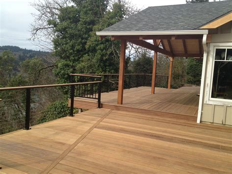 Deck Patio Pictures Finished Ironwood Decks Amp New Overhang Buildstrong