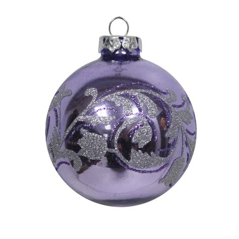 jaclyn smith 4ct decorated glass ornament purple