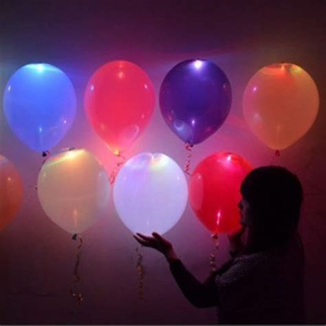 5pcs led light up balloons luminous balloon for
