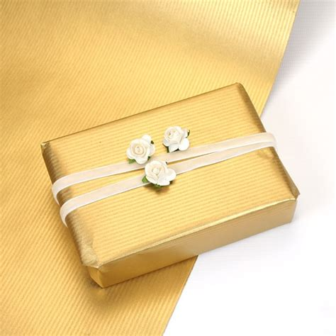 gold patterned kraft paper gold ribbed kraft wrapping paper pipii