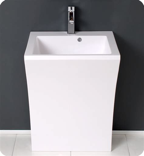 Modern Pedestal Bathroom Sinks 22 Quadro White Pedestal Sink Modern Bathroom Vanity Platinum Bath