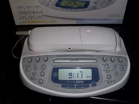 ge 26985ge1 900 mhz cordless bedroom phone alarm clock and radio free shipping cordless