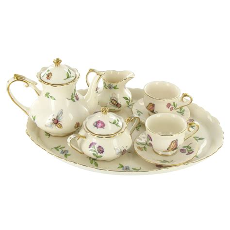 miniature tea service set morning meadows