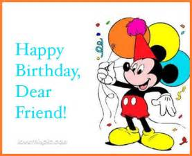 Mickey Mouse Wishing Happy Birthday Mickey Mouse Happy Birthday Friend Quote Pictures Photos