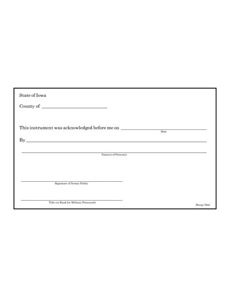 best photos of printable notary acknowledgement sle