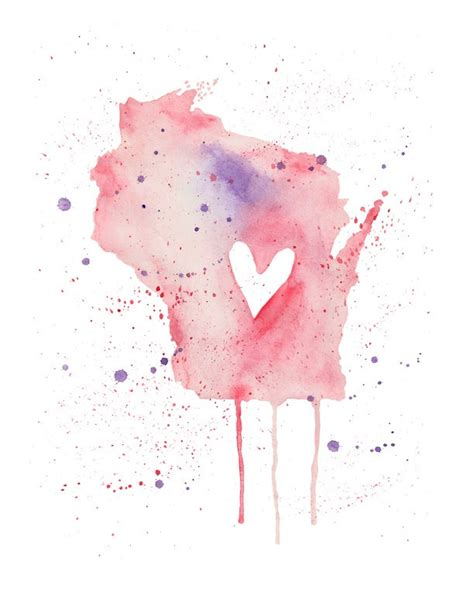 watercolor tattoo wisconsin 5x7 wisconsin 10 00 via etsy would move