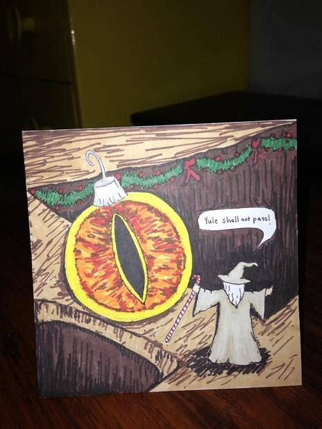 lord of the rings greatness holiday greeting card
