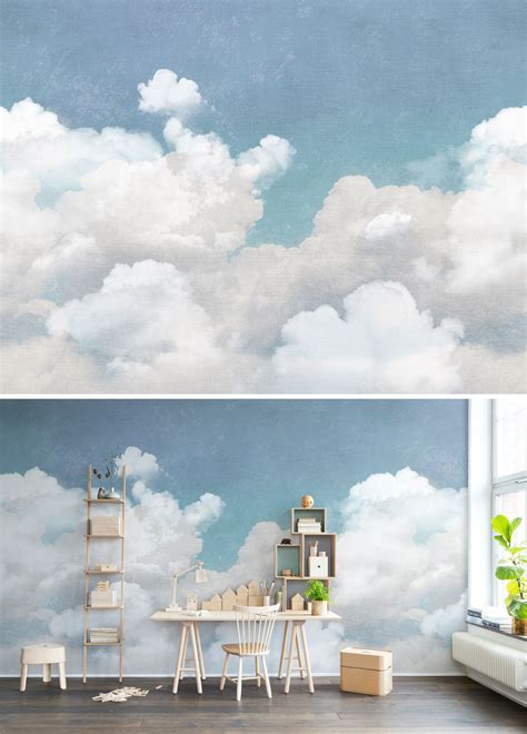 cuddle clouds   baby bedroom murals bedroom