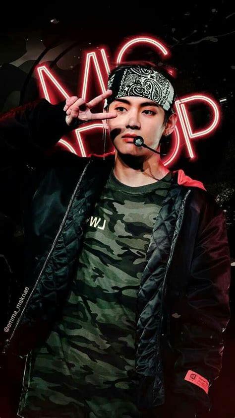 kim taehyung mic drop this mic drop wallpaper omg credits to the person who made