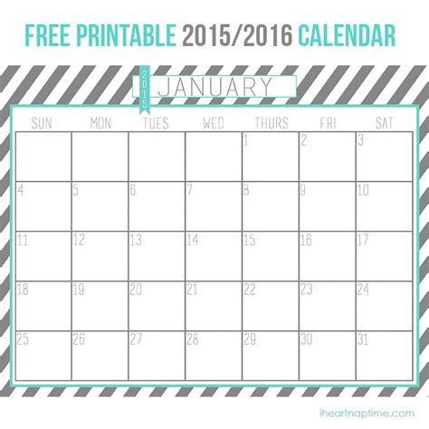 Free Download Printable Planner 2015 | 2015 2016 free printable calendar i heart nap time