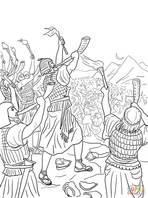 coloring pages for the book of judges gideon s slag tegen de midianieten kleurplaat gratis