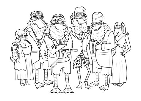 coloring pictures of duck dynasty duck dynasty printable coloring pages duck best free
