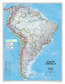 road map of south america road map south america
