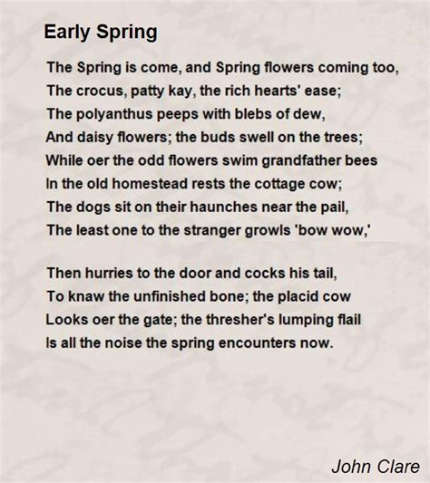 Early Poems early poem by clare poem