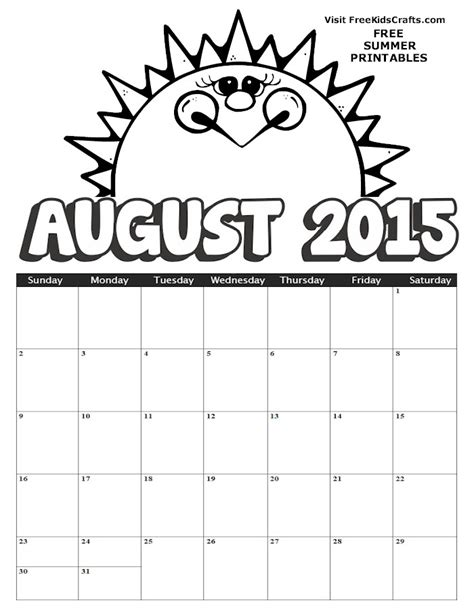 august coloring pages to download and print for free