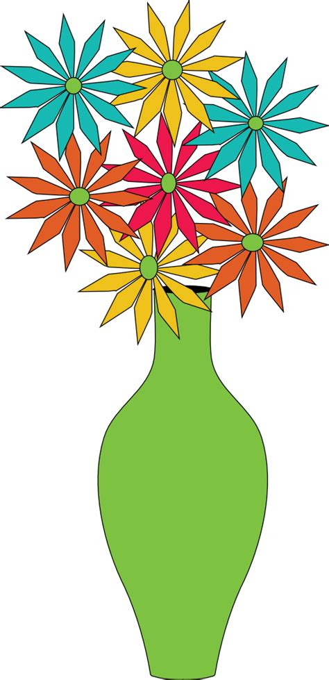 Clipart Flower Vase by Vase Of Flowers Clip Clipart Best