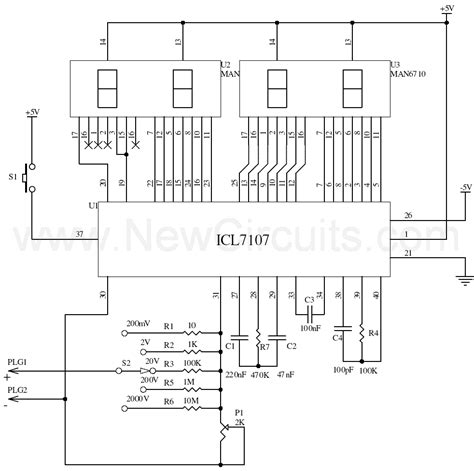 schematic diagram of voltmeter digital voltmeter circuit diagram pdf wiring diagram