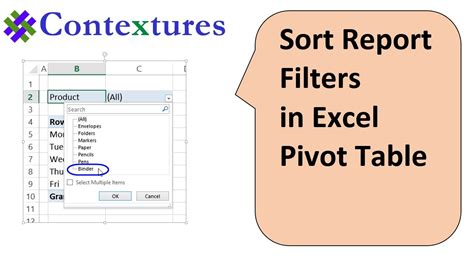 how to sort a pivot table excel 2007 pivot table report filter sorting