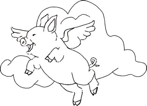 Flying Pig Coloring Pages flying pig coloring pages free printable animals