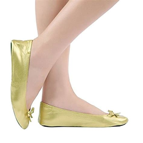 foldable high heels foldable flat ballet shoes with expandable tote bag for