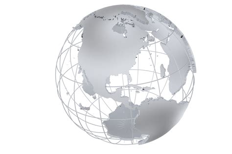 Powerpoint Template Transparent Globe Filled With | world map png transparent background gold silver globe