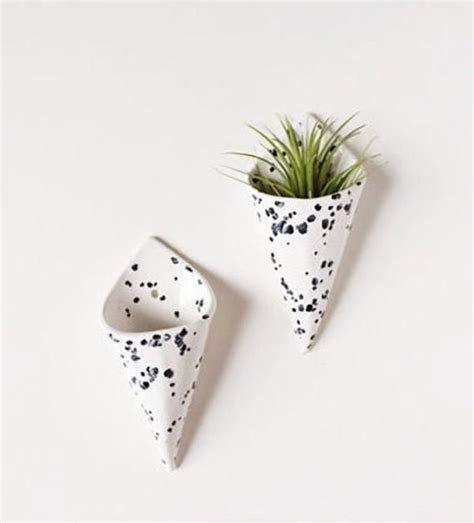 Vase Planter by Cone Wall Planter Airplant Holder Wall Pocket Wall
