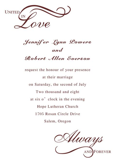 what to write on a wedding invitation about gifts templates how to write a wedding invitations plus w on