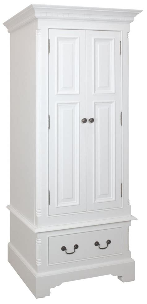 White Painted Wardrobes by Shabby Country Chic Grosvenor Painted White Single