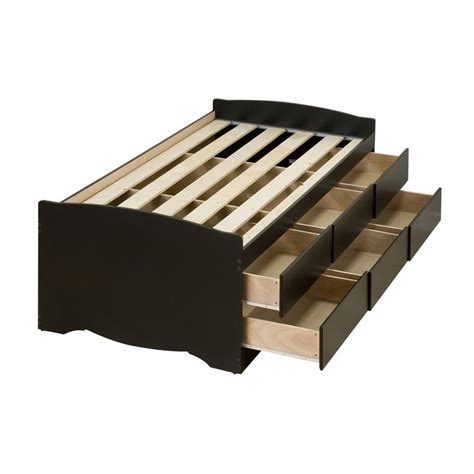 twin captain bed with storage shop prepac furniture captain s black twin platform bed with storage at lowes com