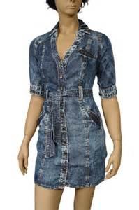 womens designer clothes gucci blue denim dress 44