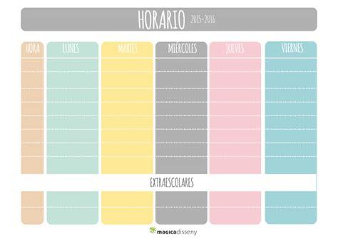 Calendario F Colegios Horario Escolar Imprimible Vueltaalcole Magicadisseny