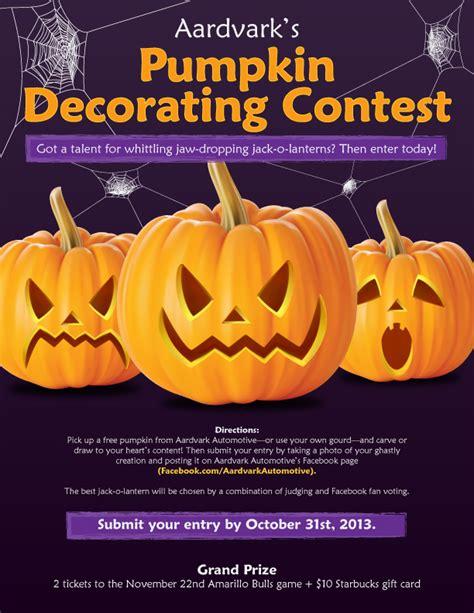 enter aardvarks pumpkin decorating contest deadline